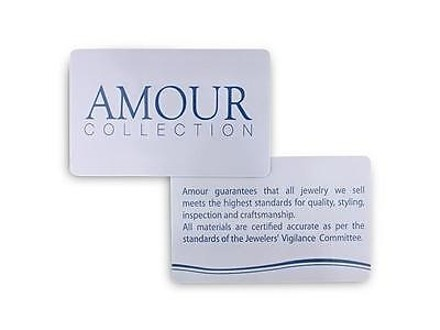 Amour Sterling Silver 6mm 2mm Round White Cubic Zirconia Ring