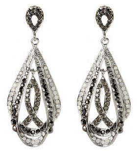Amrita Singh Amrita Singh Gotham Silver Clear Crystal Statement Earrings Erc 4051
