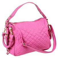 Amrita Singh Quilted Satchel in Neon Fuschia