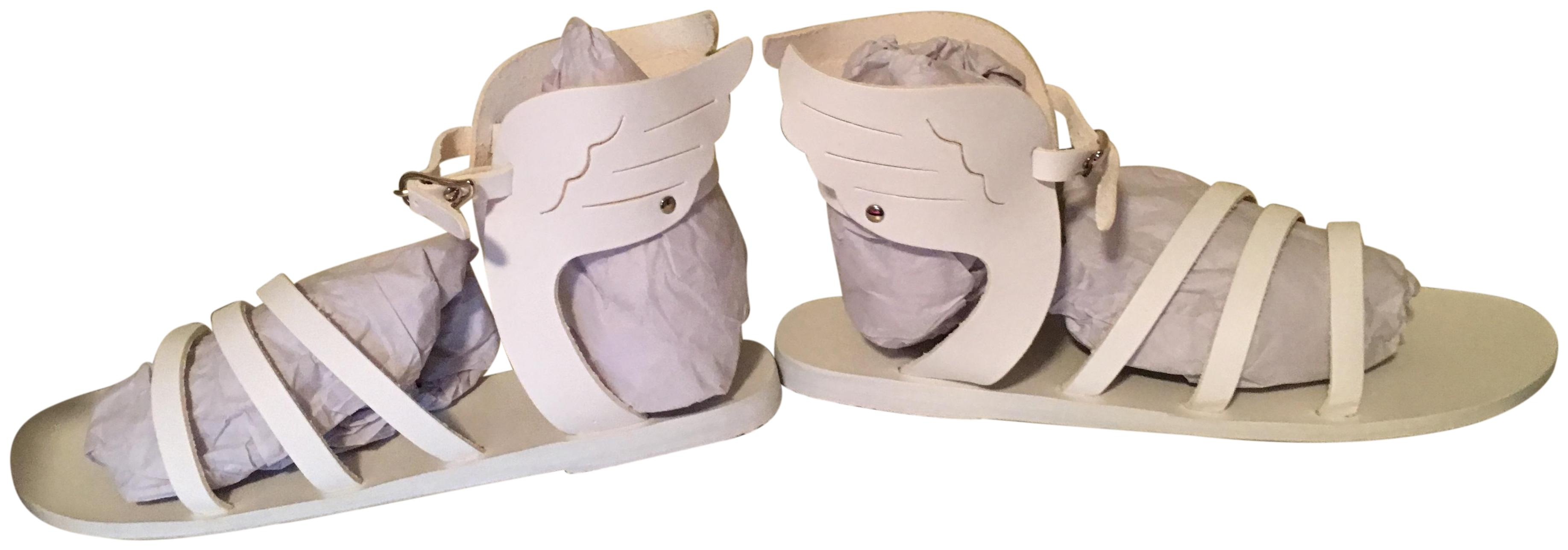 Ancient Greek Sandals White Ikaria Winged Gladiator Leather (Approx. Sandals Size EU 40 (Approx. Leather US 10) Regular (M, B) 84de29