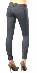 Anlo Ellie Grey Back Button Skinny Jeans