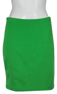 Ann Taylor Womens A Line Above Knee Casual Rayon Skirt Green