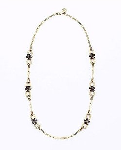 Ann Taylor Ann Taylor Midnight Frost Chain Necklace Navy