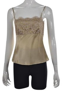 Ann Taylor Womens Gold Cami Top Multi-Color