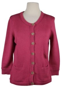 Ann Taylor Womens Solid Cardigan Cotton Blend Sweater