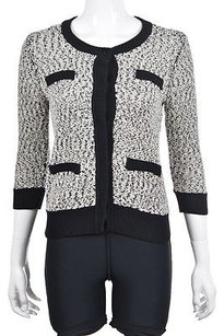 Ann Taylor Womens Cardigan Speckled Cotton Casual Sweater