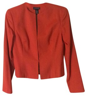 Ann Taylor Fully-lined Partial Wool coral Blazer