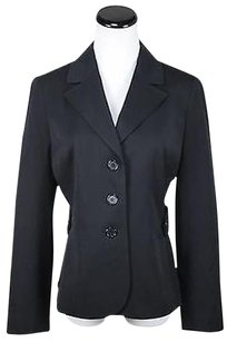 Ann Taylor LOFT Ann Taylor Loft Womens Black Blazer Long Sleeve Basic Jacket Polyeste