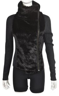 Ann Taylor LOFT Womens Full Zip Speckled Wool Casual Sweater