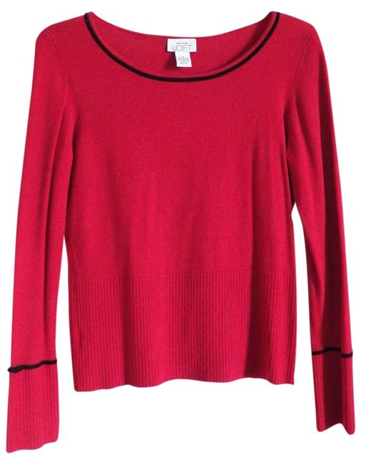 Preload https://item1.tradesy.com/images/ann-taylor-loft-red-sweaterpullover-size-8-m-1752225-0-1.jpg?width=400&height=650