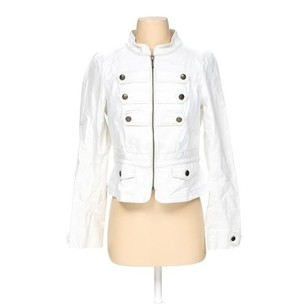 Ann Taylor LOFT Coat Trench White Jacket