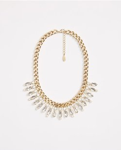 Ann Taylor Marquis Crystal Necklace (Gold)