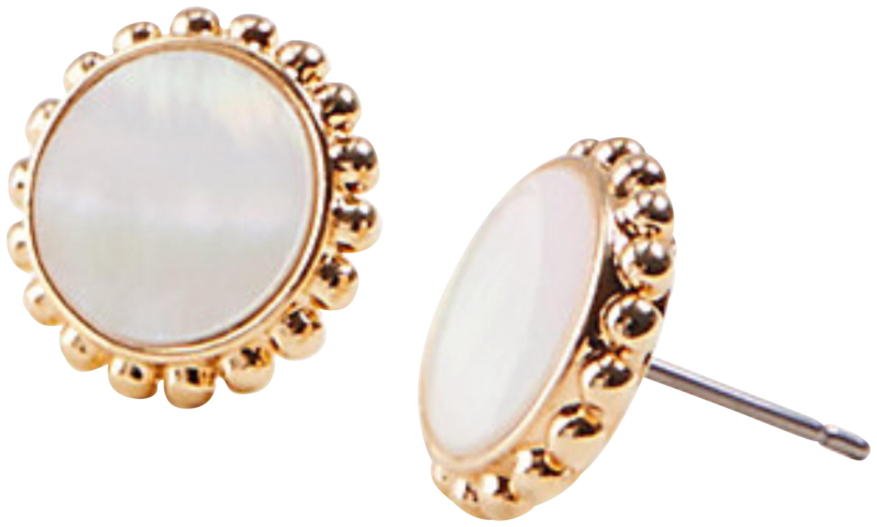 ANN TAYLOR Mother Of Pearl Stud Earrings