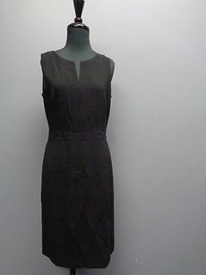 Ann Taylor V Neck Sleeveless Zipper Sheath Sma7726 Dress
