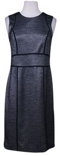 Ann Taylor Womens Sheath Houndstooth Wtw Above Knee Sleeveless Dress