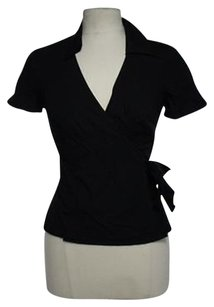 Ann Taylor Womens Solid Top Black