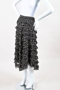 Anna Sui Black Beige Pink Skirt Multi-Color