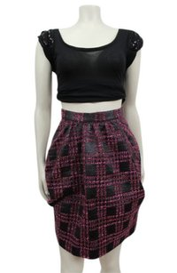 Anna Sui Multi Tweed Skirt Magenta