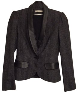 Anne Fontaine Grey / black Blazer