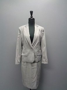 Anne Klein Anne Klein Gray Skirt Suit W Lining Sizes And Polyester Blend Sm2167