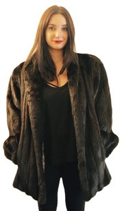 Anne Klein Fur Ranch Mink Fur Fur Coat
