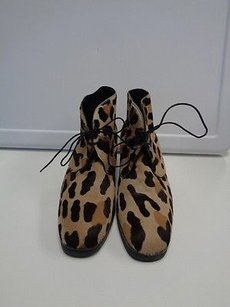 Anne Klein Animal Print Brown And Tan Boots