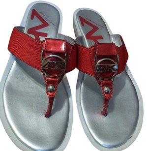 Anne Klein Flip Flop Red Sandals