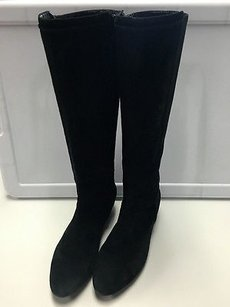 Anne Klein Leather Low Black Boots