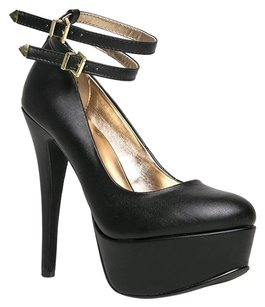 Anne Michelle Black Pumps