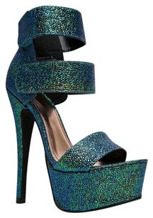 Anne Michelle Green Sandals