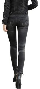 Anoname Boyfriend Straight Leg Jeggings-Dark Rinse