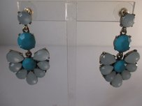 Anthropologie Anthropologie Turq Bead Fan Earrings