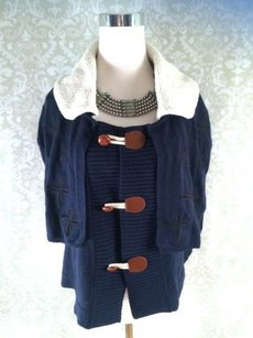 Anthropologie Moth Sweater With Fleece Adorable Cape