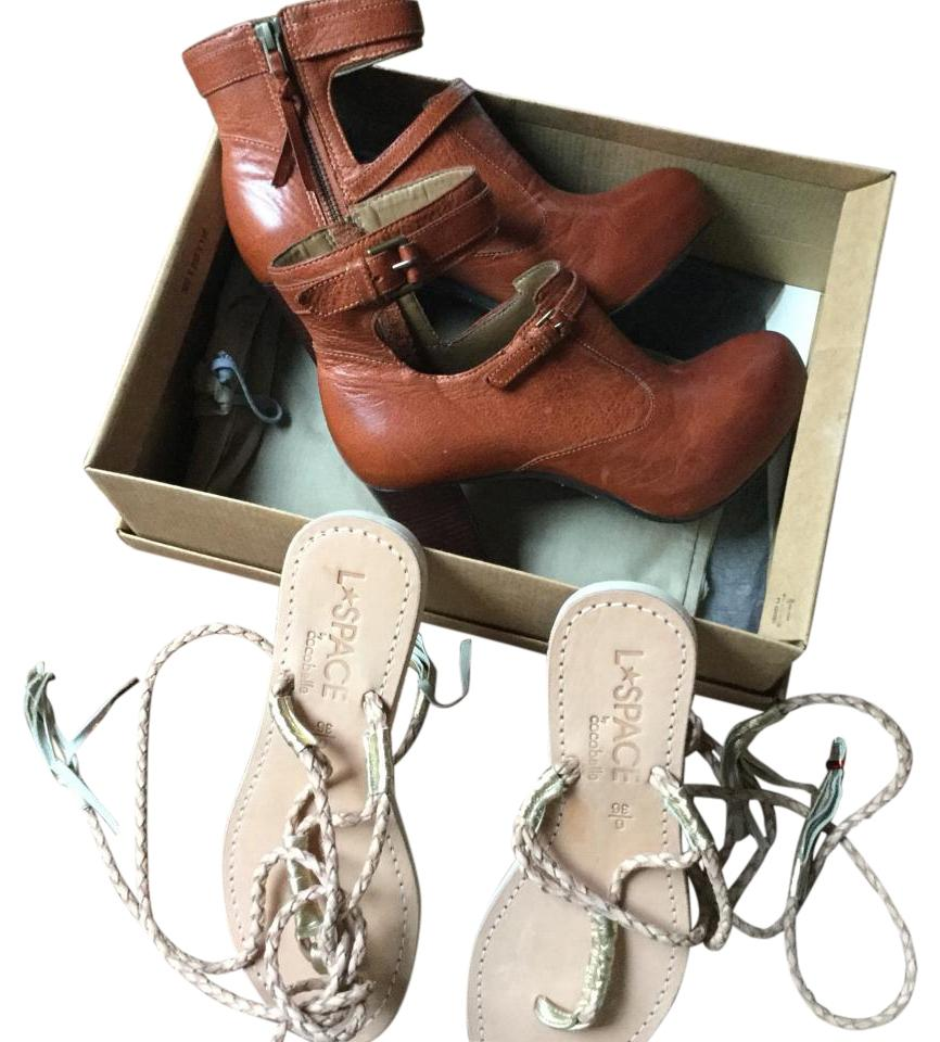 Anthropologie botties and sandals