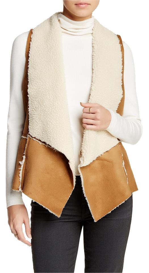 Anthropologie Brown Willow & Clay Faux Shearling Vest