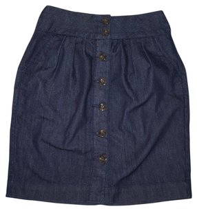 Anthropologie Denim Pencil Mini High Waist Mini Skirt
