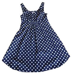 Anthropologie short dress Blue and White on Tradesy