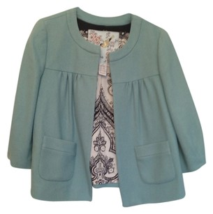 Anthropologie Dusty Blue/ Mint Jacket