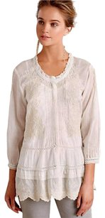 Anthropologie Lace Detailing Romantic Top NWT Ivory