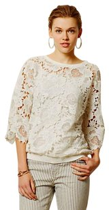Anthropologie Lace Top White