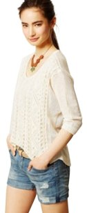 Anthropologie Moth Sena Crochet Sweater