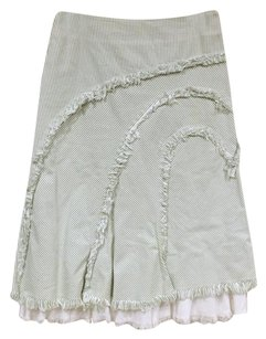 Anthropologie Skirt Green, White