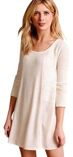 Anthropologie short dress Ivory Sleep Shirt Soft Thermal on Tradesy