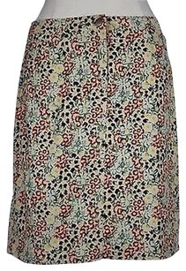 Anthropologie Tabitha Womens Floral 100 Straight Skirt Multi-Color