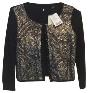 Anthropologie Top Black And Silver