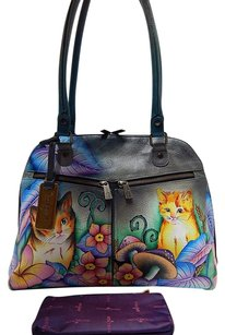 Anuschka Hand Painted Leather Satchel in Multi-Color