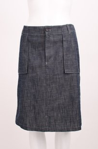 A.P.C. Dark Wash Denim Jean Skirt Blue