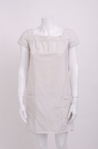 A.P.C. short dress Ivory Apc Pinstripe Cotton on Tradesy