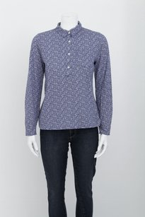 A.P.C. Apc Cotton Floral Print Top Blue