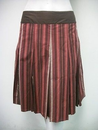 Apt. 9 Apt. Mixed Brown Pink Striped Skirt 12p Petite Style Pn7546 durable service